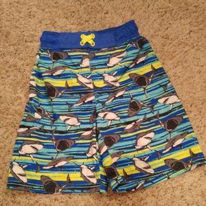 Boys shark swim trunks size small